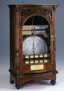 Der Musikautomat konnte 10 Musikstücke speichern.