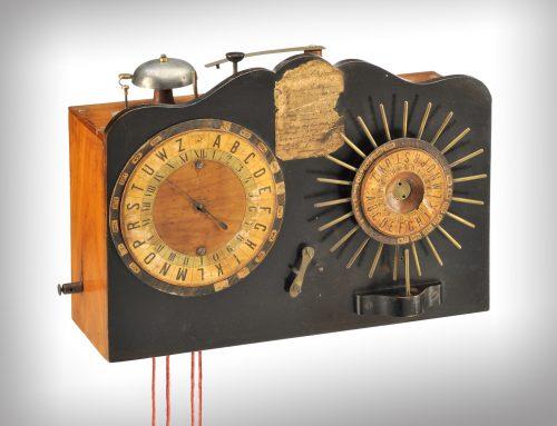 Einer der ersten heißen Drähte Deutschlands: Telegraf von William Fardely jetzt in der Ausstellung im TECHNOSEUM