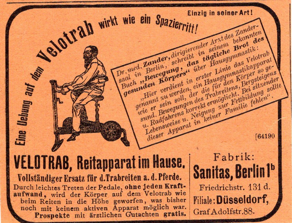 Zeitungsannonce Velotrab